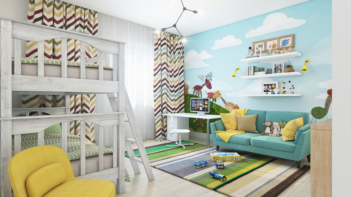 animal-themed-kids-wall-mural