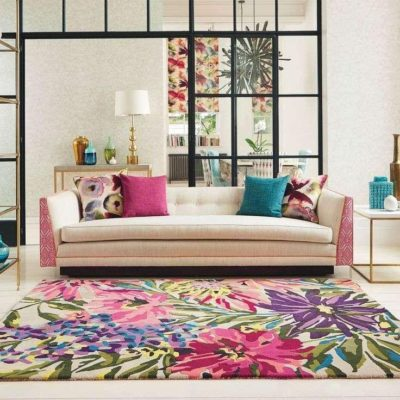 Walk on the flowers with floor rugs